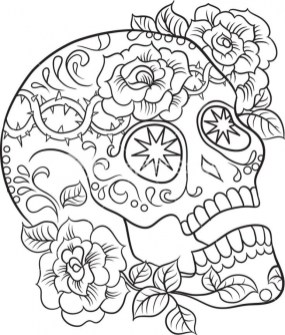Sugar Skull Coloring Pages Free for Adults 24631