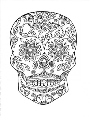 Sugar Skull Coloring Pages to Print for Grown Ups 621782