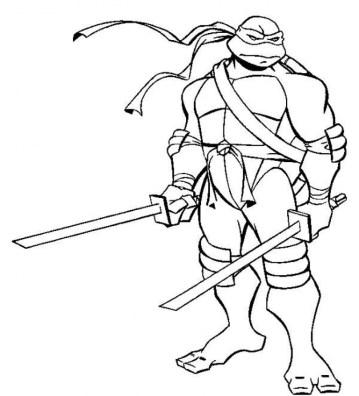 Teenage Mutant Ninja Turtles Coloring Pages Free Printable 65190
