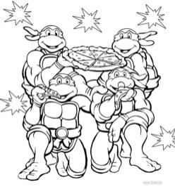 Teenage Mutant Ninja Turtles Coloring Pages Free Printable 85400
