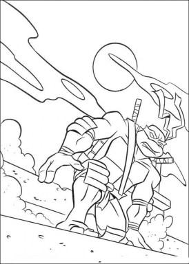 Teenage Mutant Ninja Turtles Printable Coloring Pages for Boys 17592