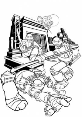 Teenage Mutant Ninja Turtles Printable Coloring Pages for Boys 21746
