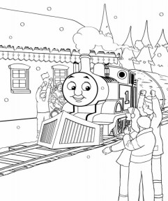 Thomas the Tank Engine Coloring Pages Free 07802