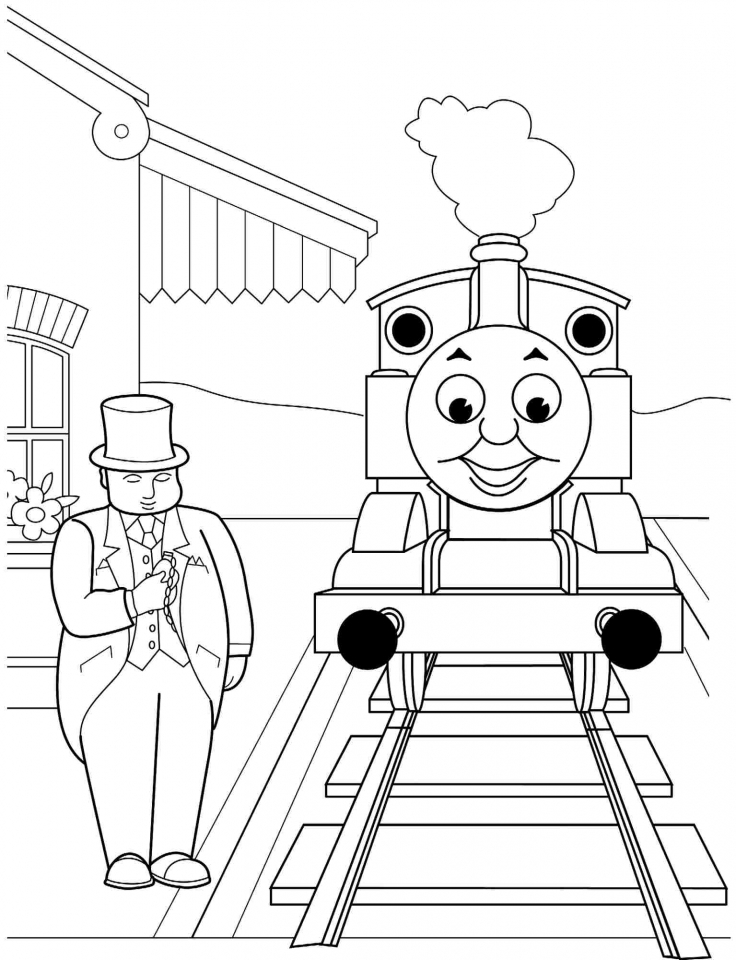 Get This Thomas The Train Coloring Pages Printable 15627