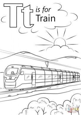 Train Coloring Pages for Kids 87201