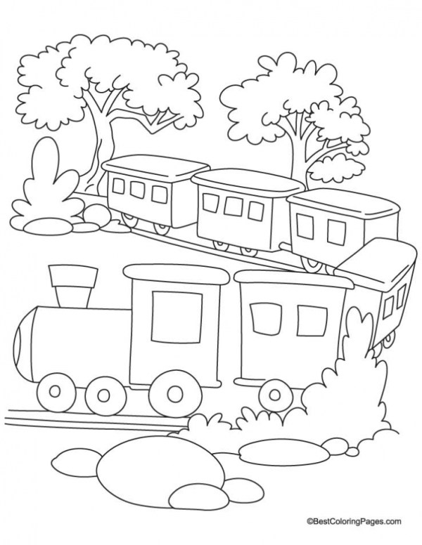 train color pages free printable # 8