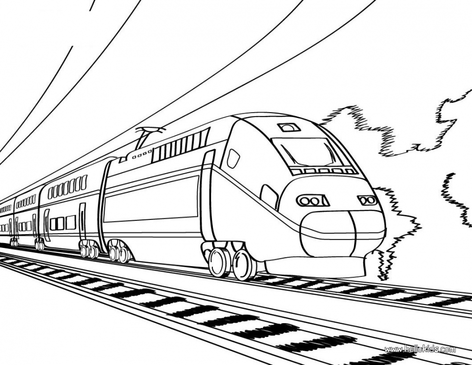 Train Coloring Pages Printable   31972