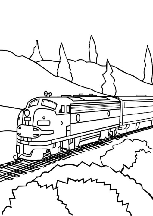 Train Coloring Pages to Print Out 94471