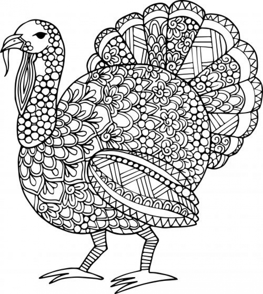 Get This Turkey Coloring Pages For Adults 31218