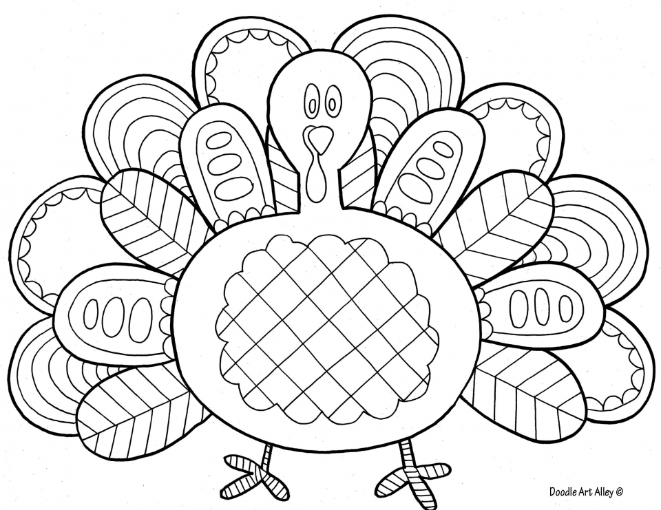 Turkey Coloring Pages for Preschoolers   31776