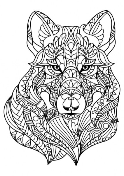 Wolf Coloring Pages for Adults 67216
