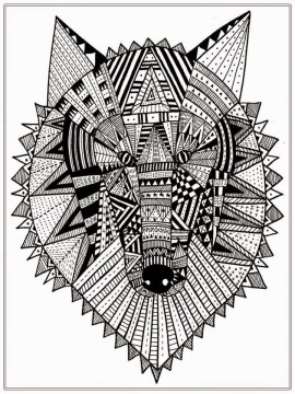 Wolf Coloring Pages for Adults Free Printable 31662