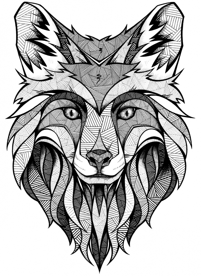 Get This Wolf Coloring Pages For Adults Free Printable 31756
