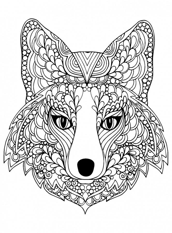 - Get This Wolf Coloring Pages For Adults Free Printable 96993 !