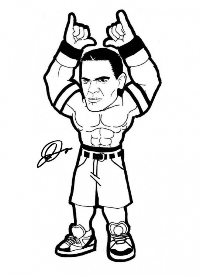 WWE Coloring Pages Free Printable   64837