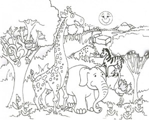 Zoo Coloring Pages Free to Print 88217