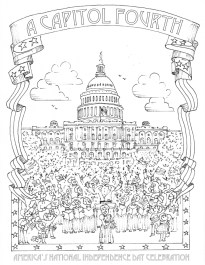 4th of July Coloring Pages for Adults 7351c