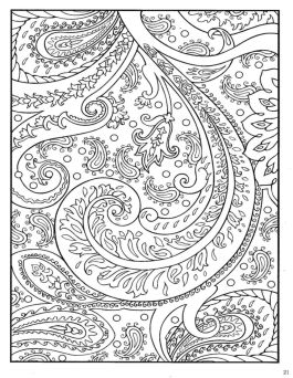 Abstract floral design coloring pages - 78493
