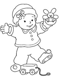 Baby Coloring Pages Online - 73an3
