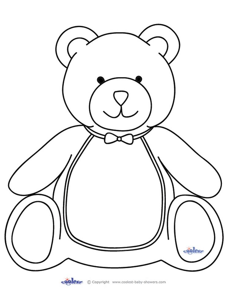 Coloring Pages of Teddy Bear for Toddlers - y56sm