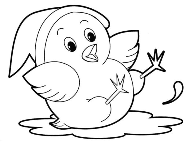 Cute Animal Coloring Pages for Toddlers - 7gh68