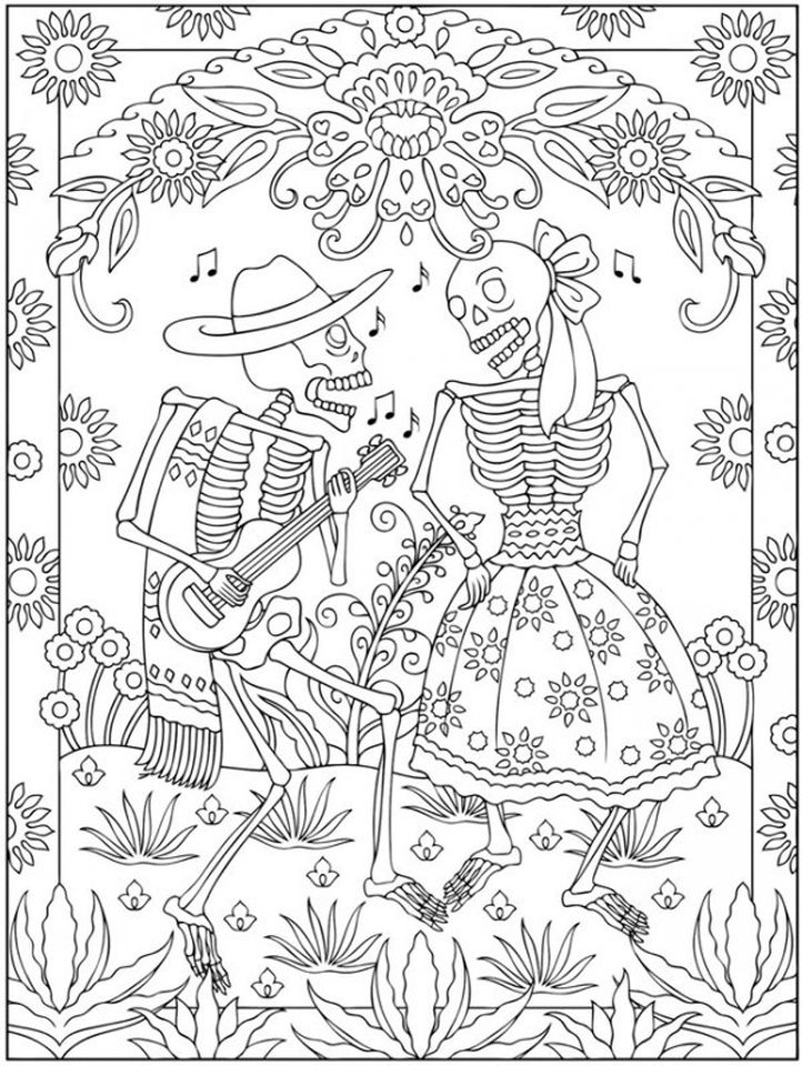 Sugar Skull Coloring Page - Coloring Home | 960x722