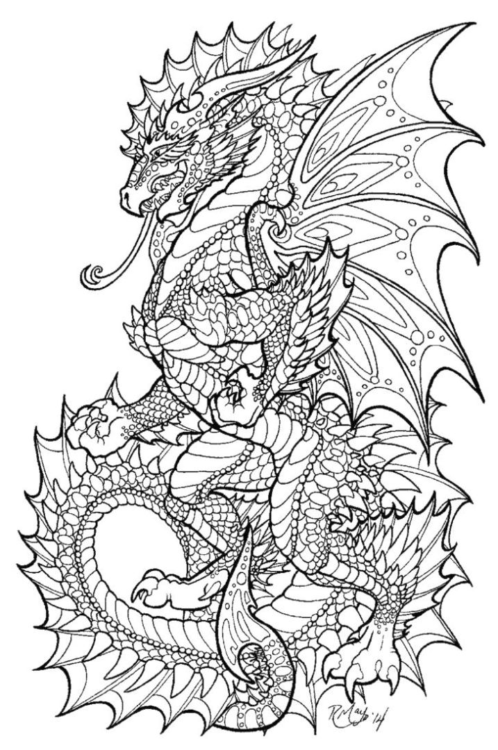 Dragon Coloring Pages for Adults Printable - 6sm40