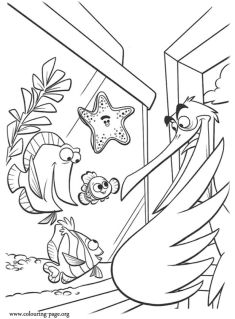 Finding Nemo Coloring Pages for Kids - kl57f