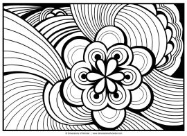 Flower Design Coloring Pages - 4cbtn