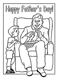 Happy Father's Day Coloring Pages - cya73