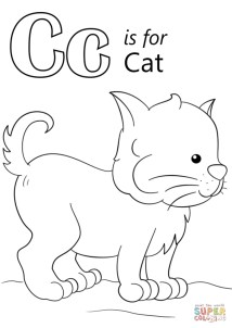 Letter C Coloring Pages Cat - 63bma