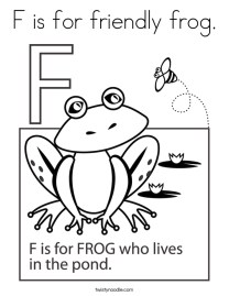 Letter F Coloring Pages Frog - krm5a