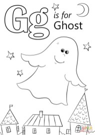 Letter G Coloring Pages Ghost - uen3m