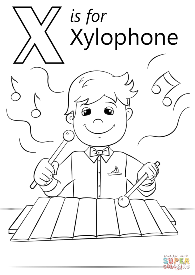 Letter X Coloring Pages - xh4m1