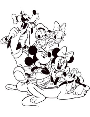 Mickey Mouse Clubhouse Coloring Pages Printable for Kids - nng85l
