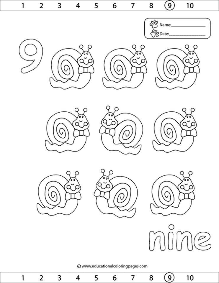 Number 9 Coloring Page - 959v9