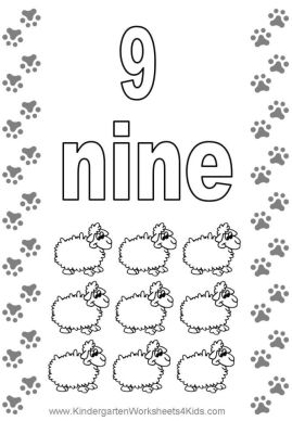 Number 9 Coloring Page - 9s949