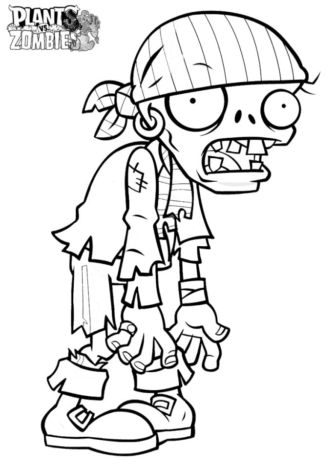 Plants Vs. Zombies Coloring Pages for Kids - at219