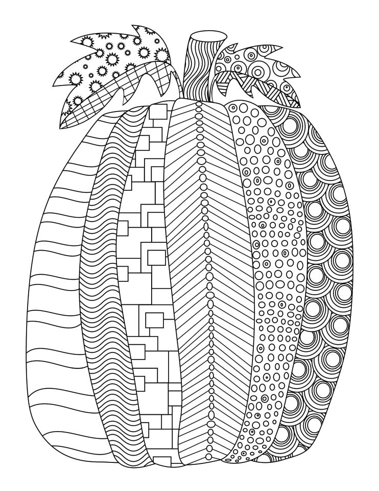 Pumpkin Coloring Pages for Adults Free - 7fsa1