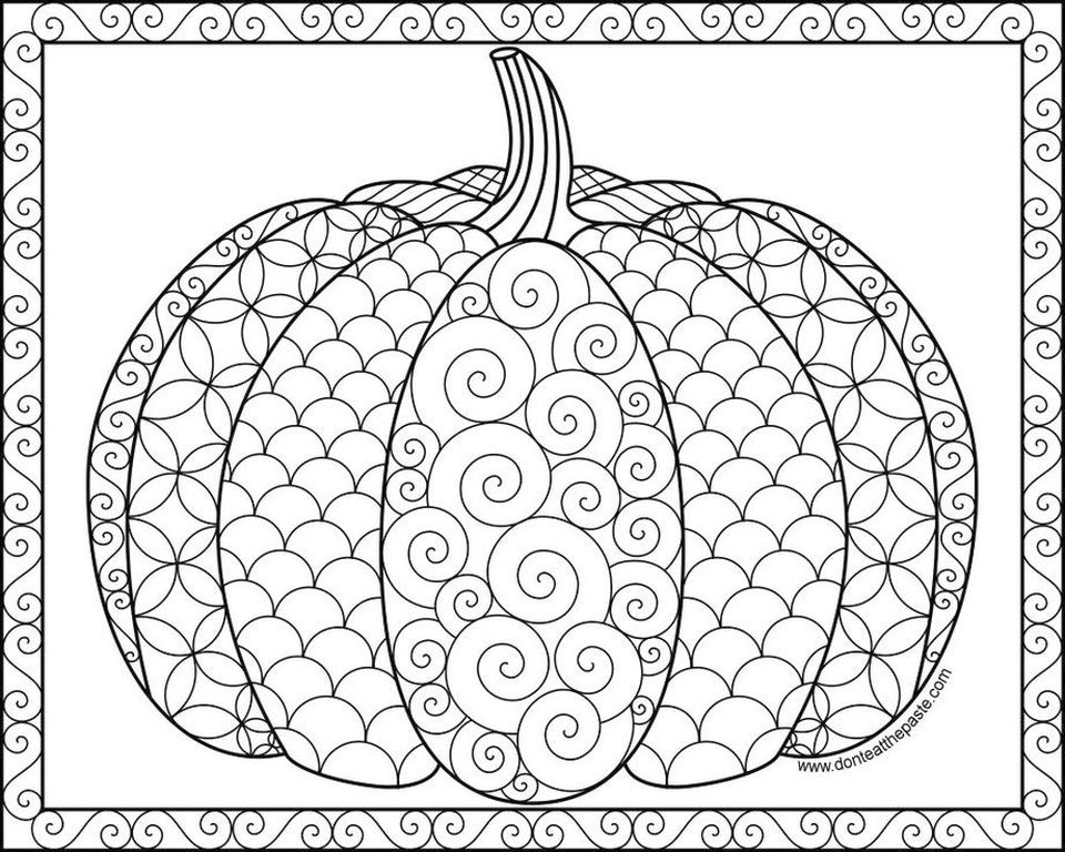 Get This Pumpkin Coloring Pages for Adults Free - yvbf1