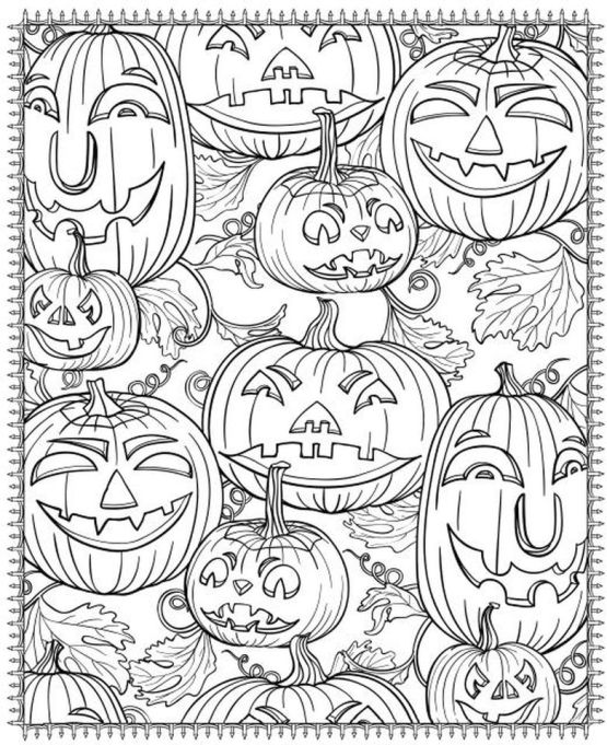 Pumpkin Coloring Pages for Adults Printable - 7cv31