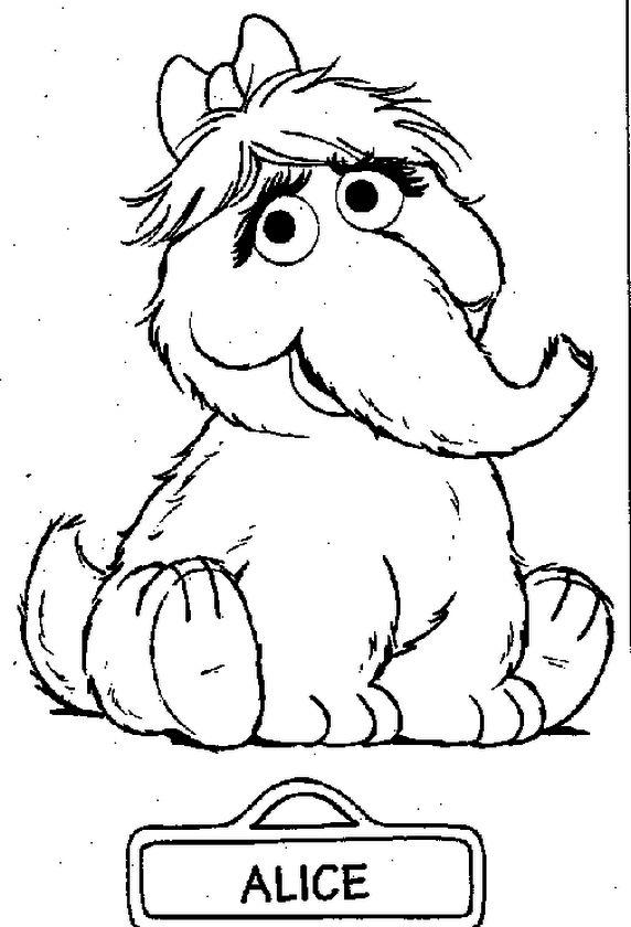Sesame Street Coloring Pages Free Printable - bg75n