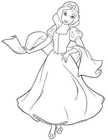 Snow White Coloring Pages Princess Printables - m78bn