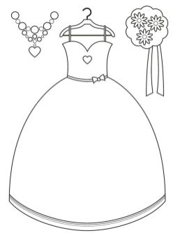 Wedding Dress Coloring Pages - 8sn3