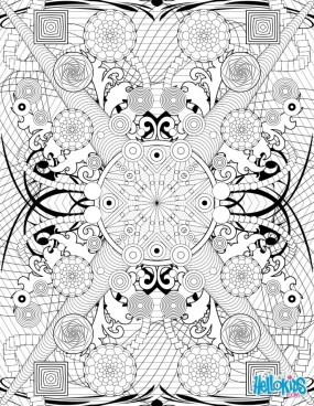 Abstract floral design coloring pages 4cvtu