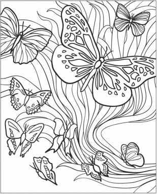 Adult Butterfly Coloring Pages to Print 7a8e2