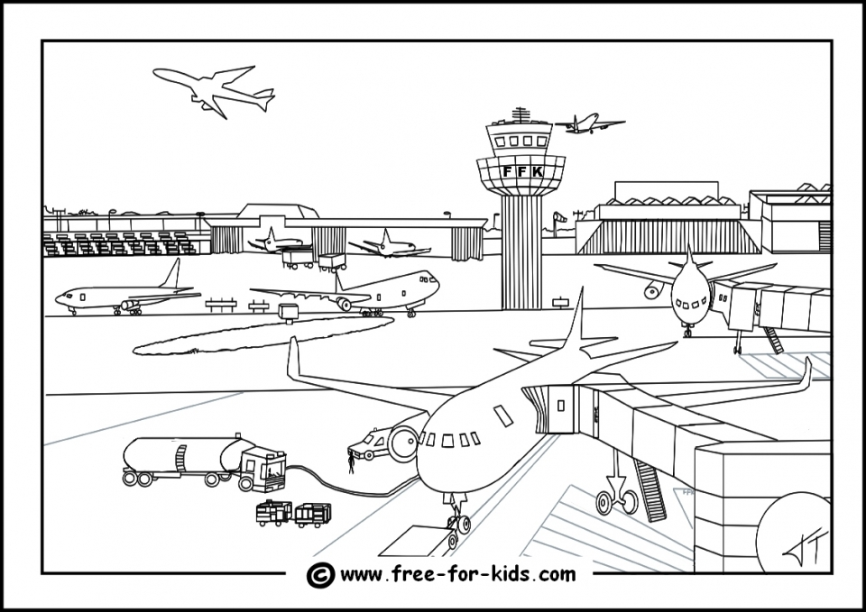 Airplane Coloring Pages for Kids   3ar48
