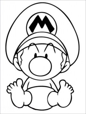 Baby Mario coloring pages for kids 74571
