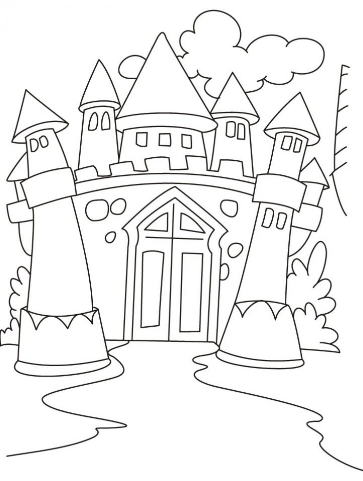 Castle Coloring Pages for Kids   bssz4