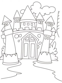 Castle Coloring Pages for Kids bssz4